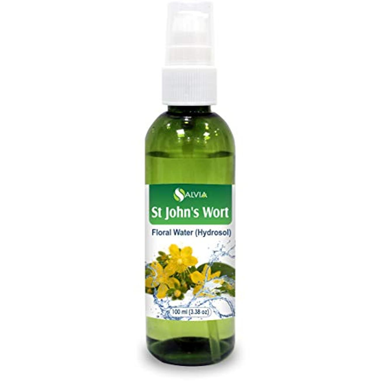 きしむ区画商標St John's Wort Floral Water 100ml (Hydrosol) 100% Pure And Natural