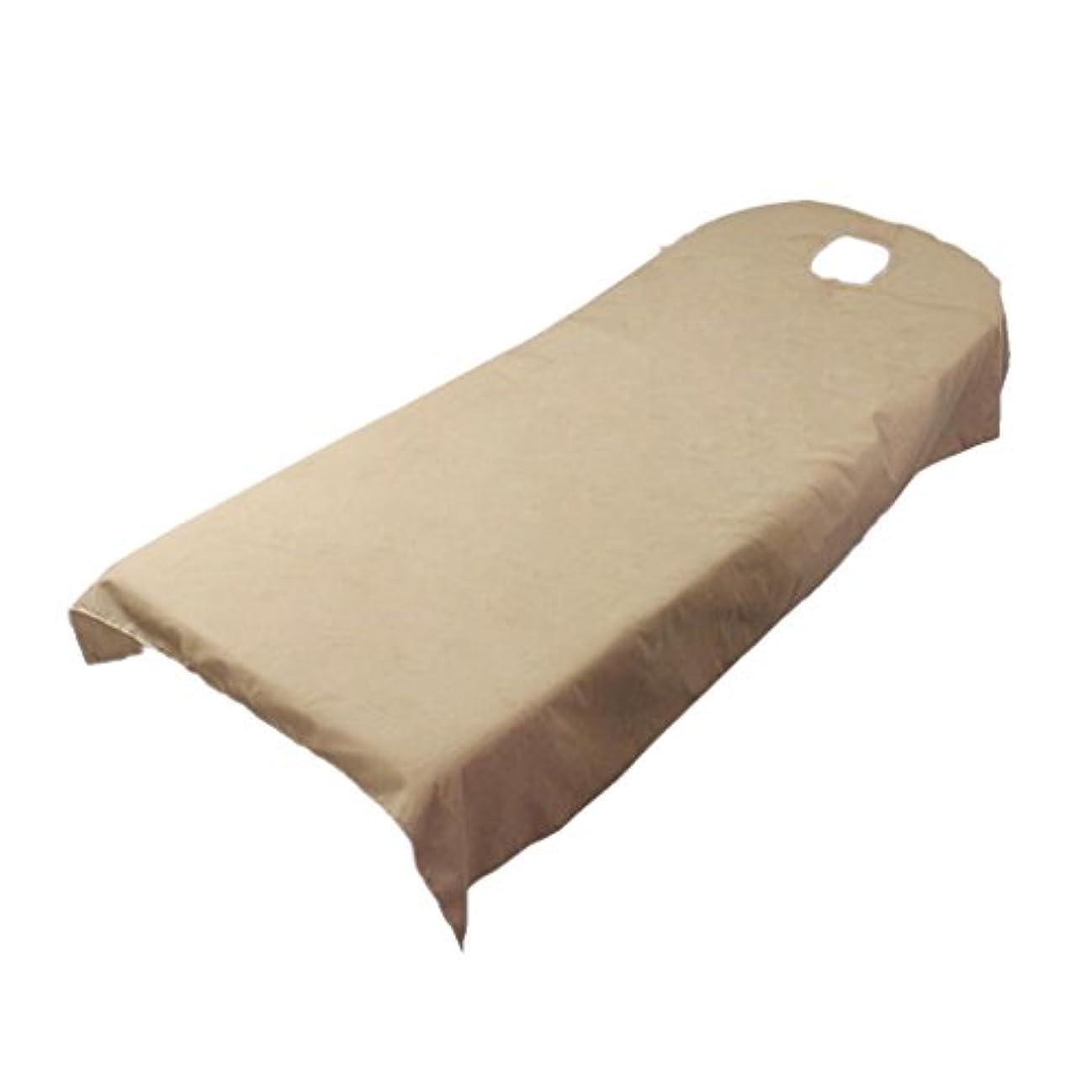 アクティブレベル処分した柔らかい ベッドカバー シート ホール付き 美容/マッサージ/スパ専用 全9色可選 - キャメル