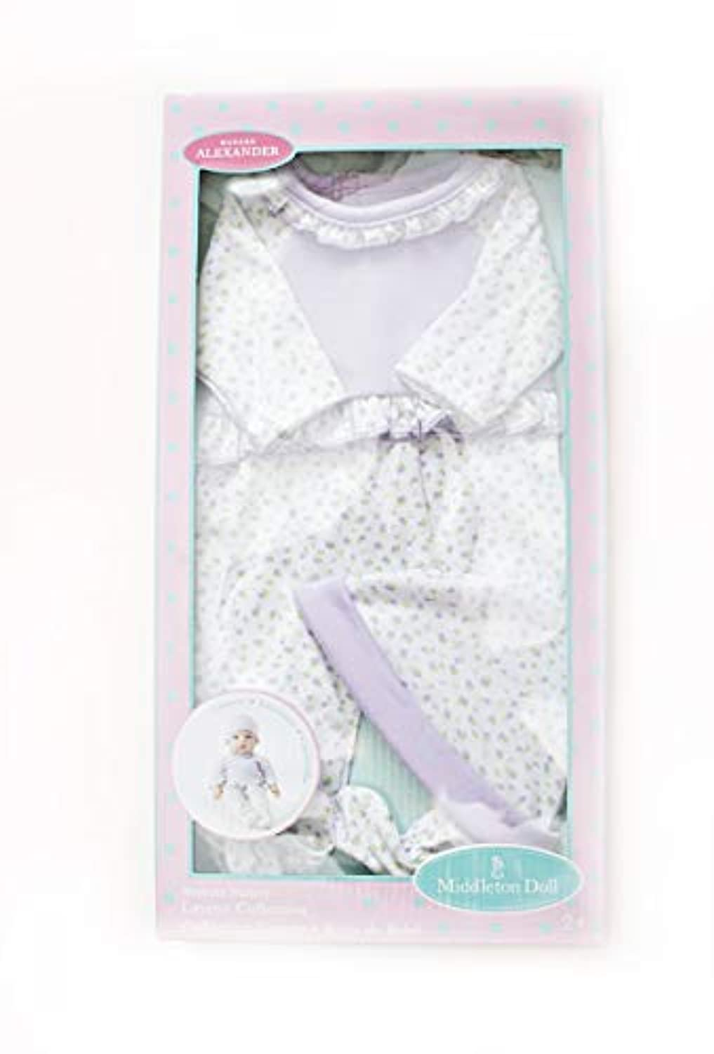 Madame Alexander Middleton 16インチ新生児Nursery Doll OutfitラックスラベンダーLayette