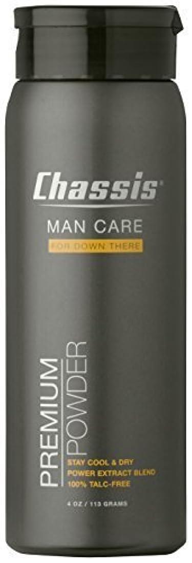 短くするお風呂を持っているメッシュChassis 男性用プレミアムボディーバウダー、オリジナルフレッシュの香り オリジナルフレッシュな香り