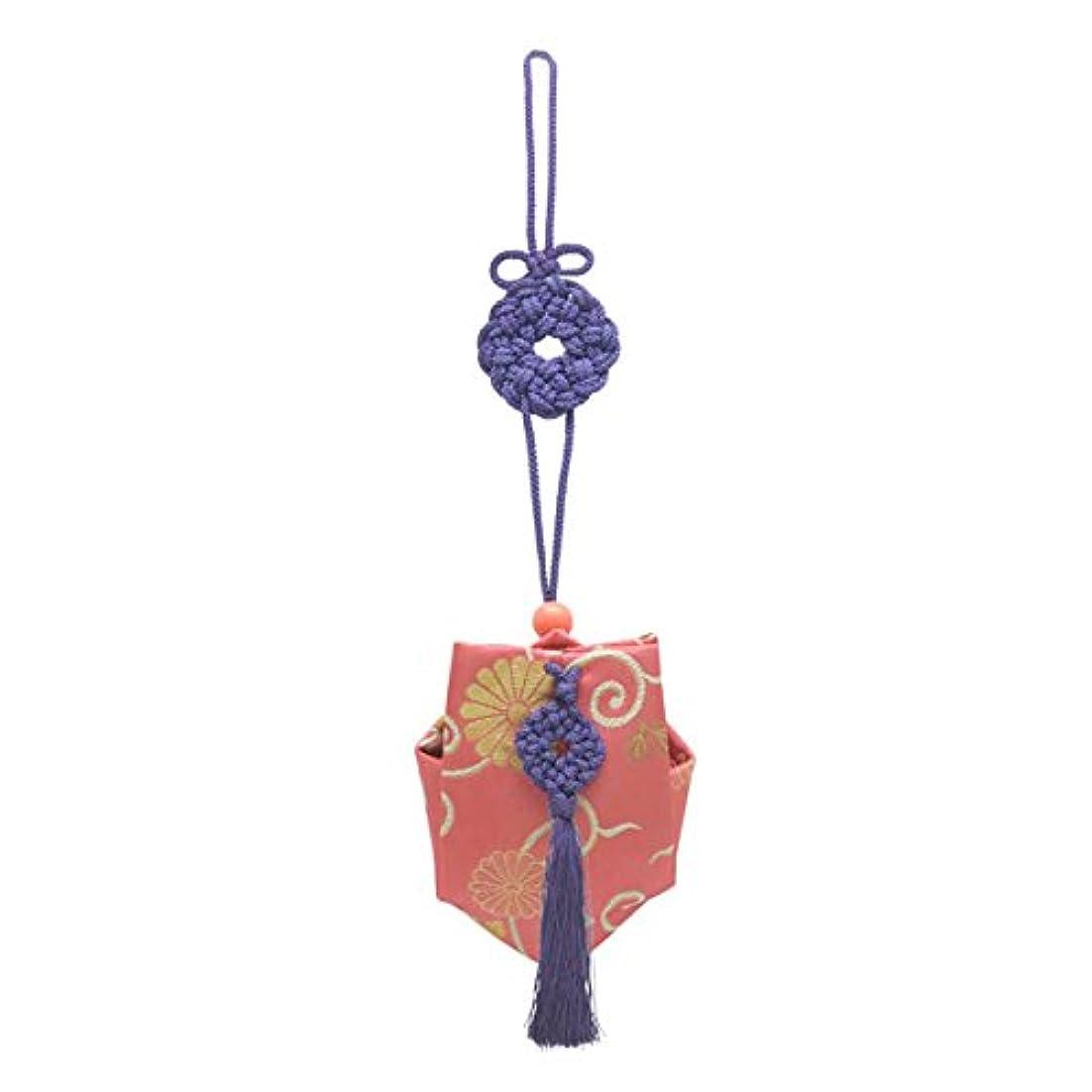 糸服を片付ける姿を消す訶梨勒 上品 紙箱入  紫紐/牡丹唐草