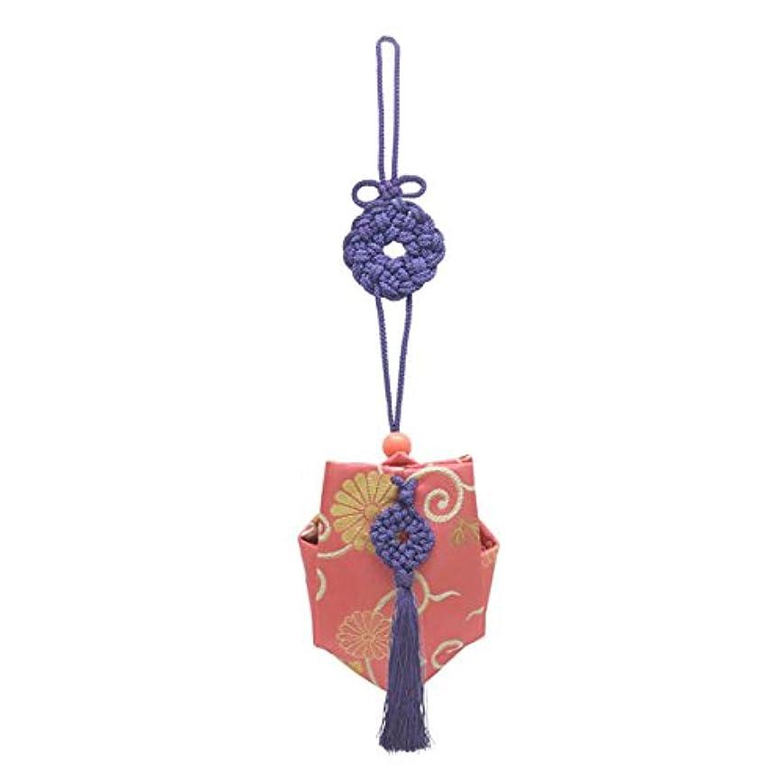 まとめる温度計それぞれ訶梨勒 上品 紙箱入  紫紐/牡丹唐草