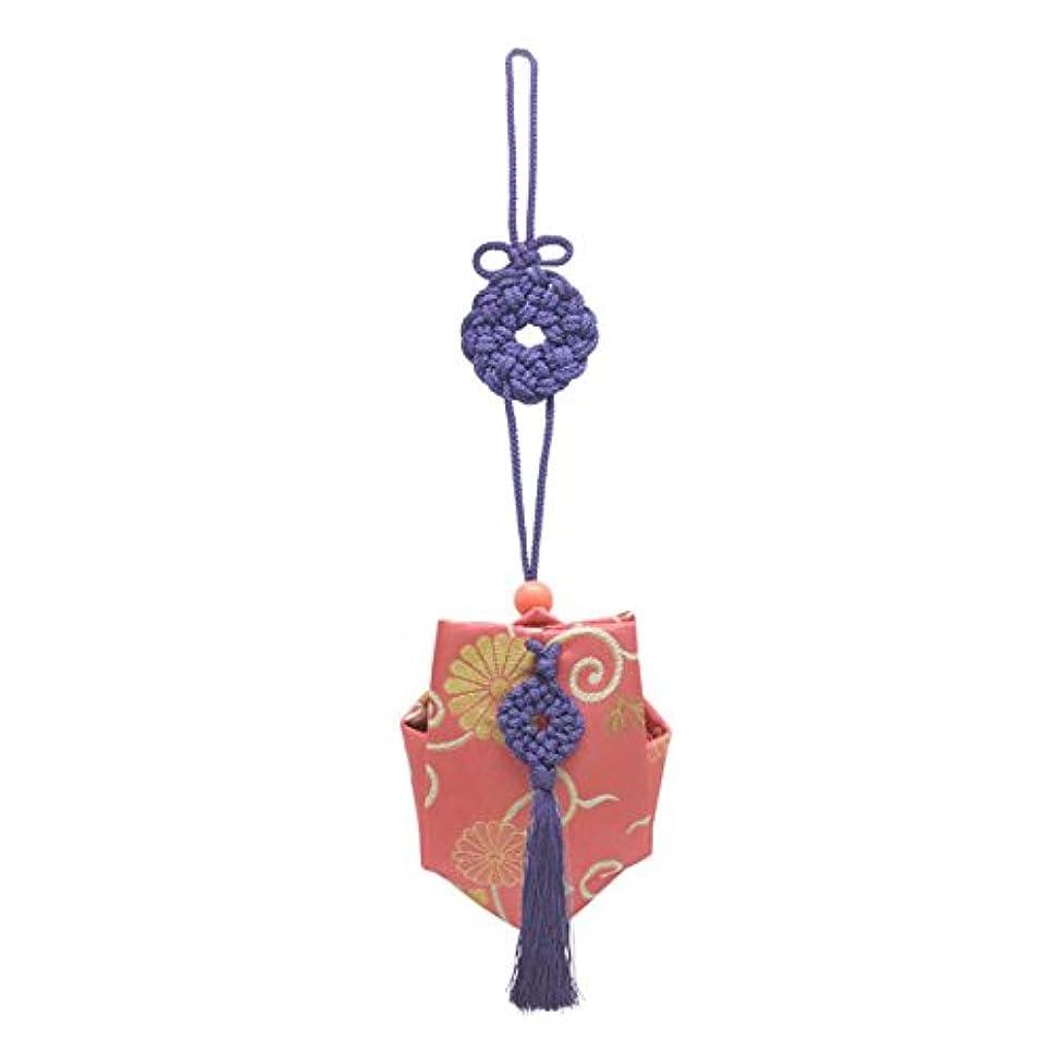 日修道院ボンド訶梨勒 上品 紙箱入  紫紐/牡丹唐草