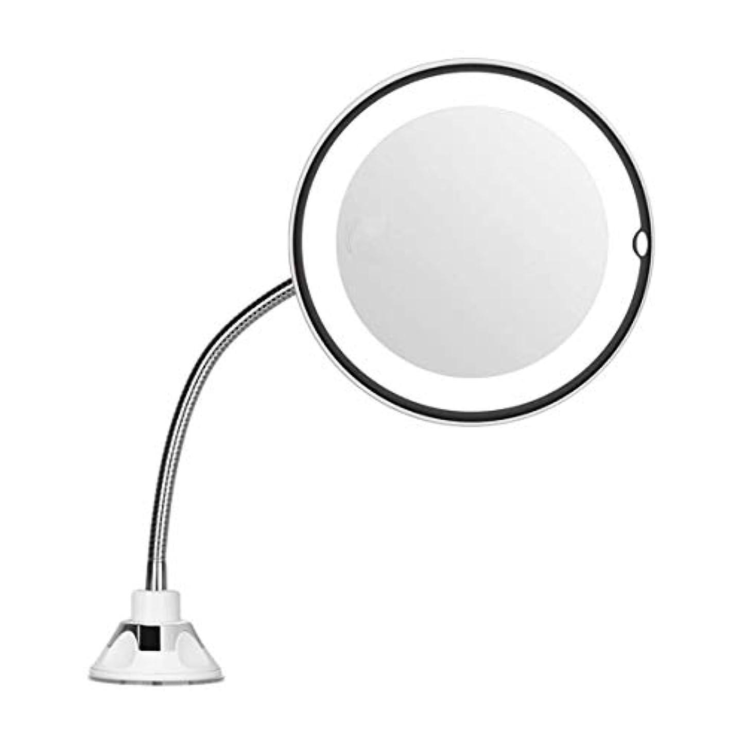 タンパク質融合かろうじてIntercorey Mirror倍率7インチグースネックメイクアップラウンドバニティミラー家庭用浴室使用超強力吸盤