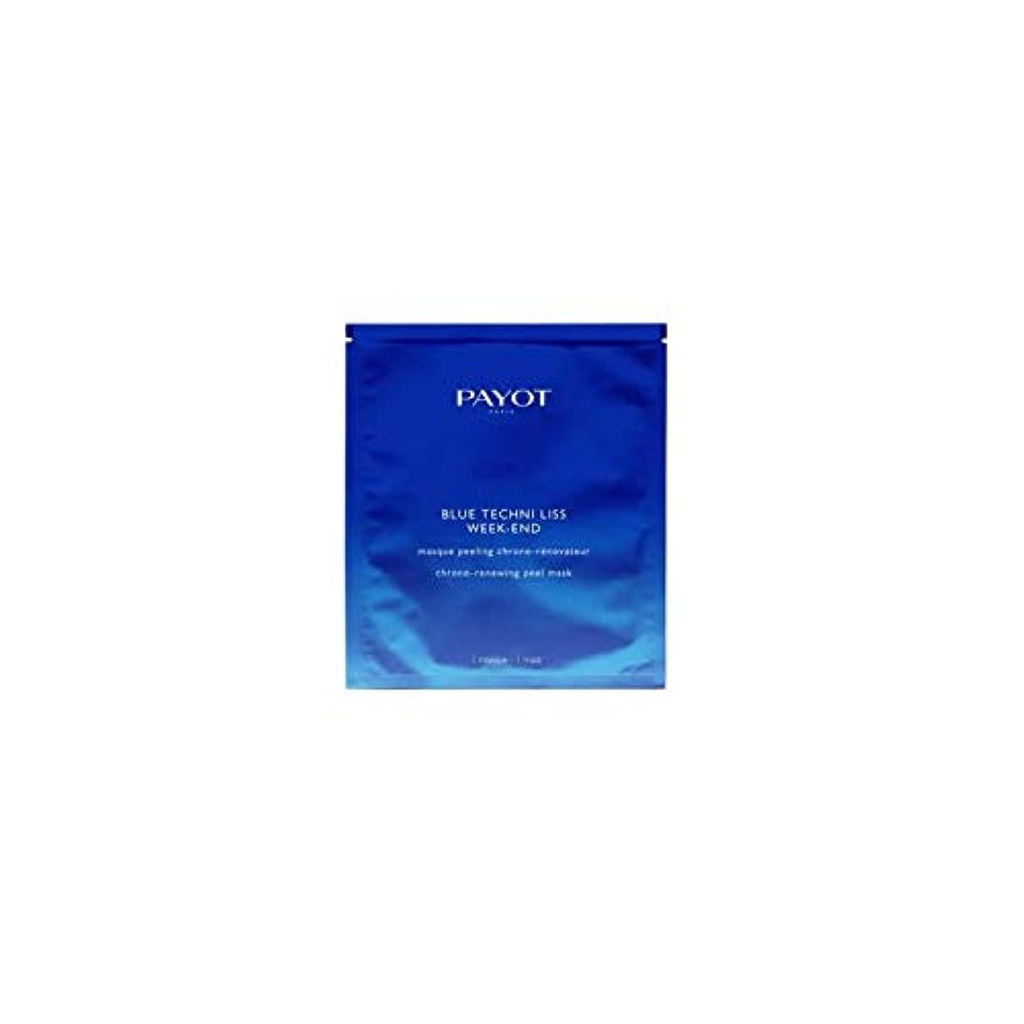 立派な暴行芸術的パイヨ Blue Techni Liss Week-End Chrono-Renewing Peel Mask 10pcs並行輸入品