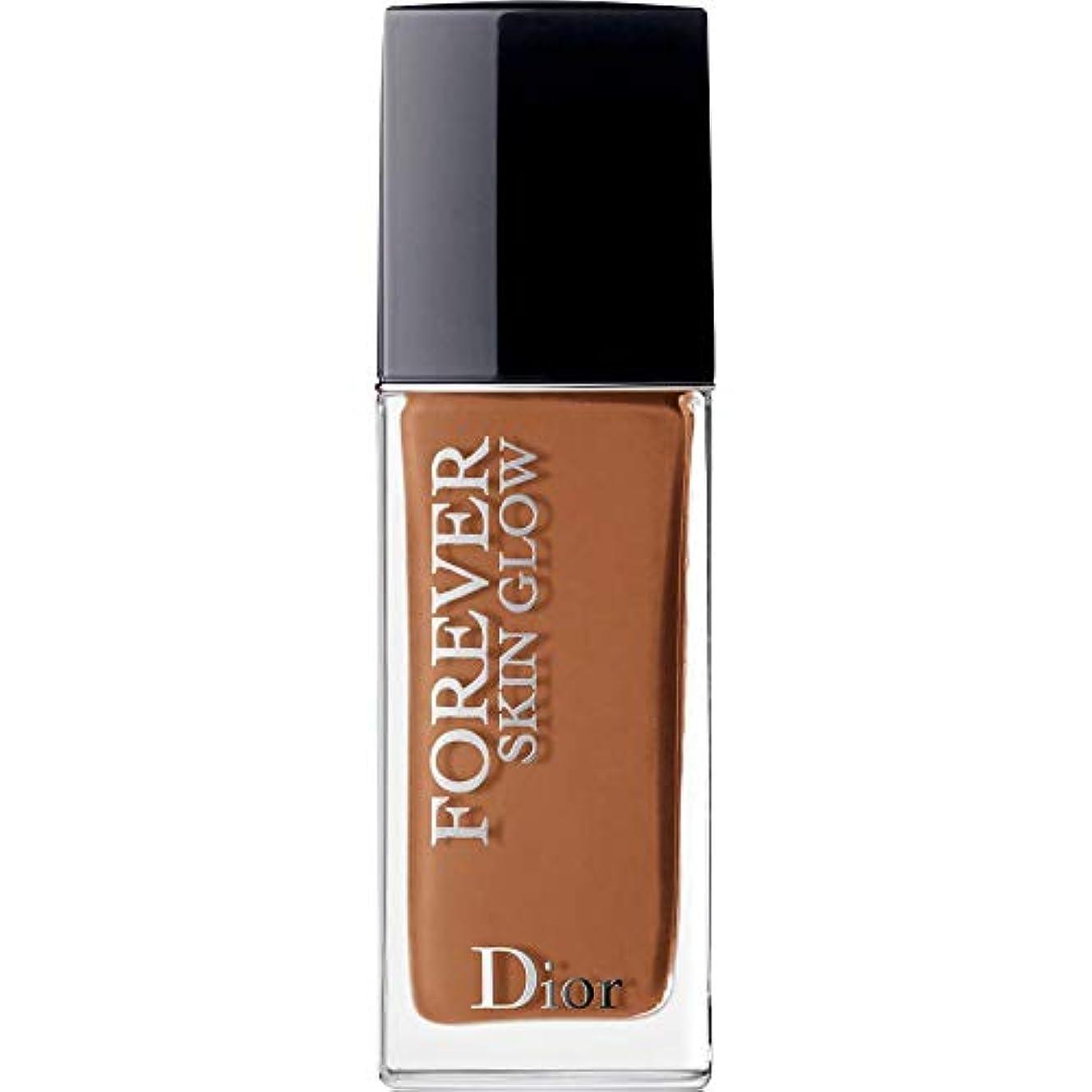 押す飲食店楕円形[Dior ] ディオール永遠に皮膚グロー皮膚思いやりの基礎Spf35 30ミリリットルの6N - ニュートラル(肌の輝き) - DIOR Forever Skin Glow Skin-Caring Foundation...