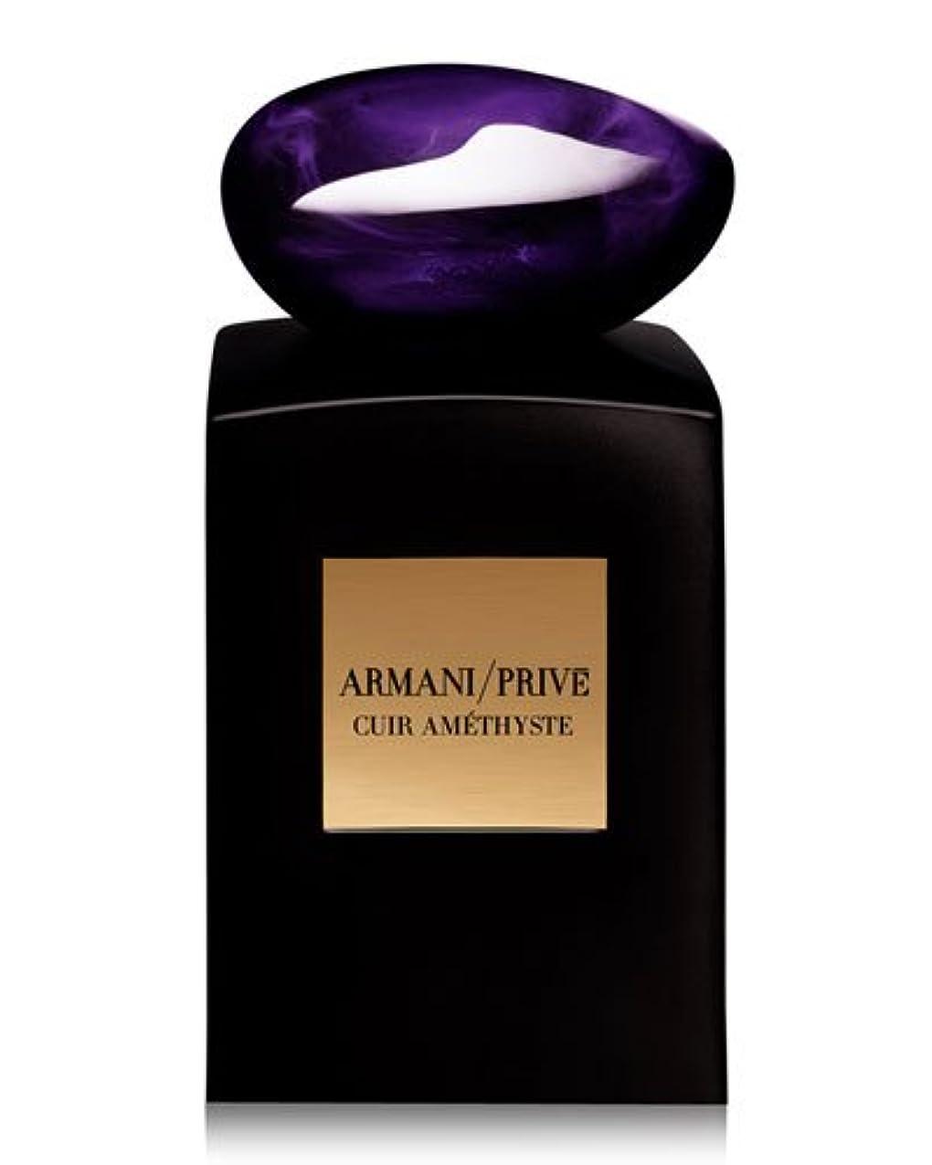 機械的に細いどっちでもArmani Prive Cuir Amethyste (アルマーニ プリベ キュア アメジスト) 3.4 oz (100ml) EDP Spray by Giorgio Armani for Men