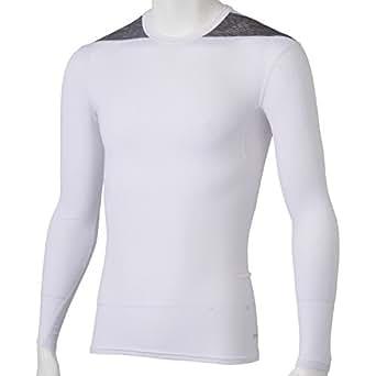 (アディダス)adidas M TF BASE ロングスリーブシャツ AJ451 D82014 ホワイト/ミディアムグレイヘザー J/L