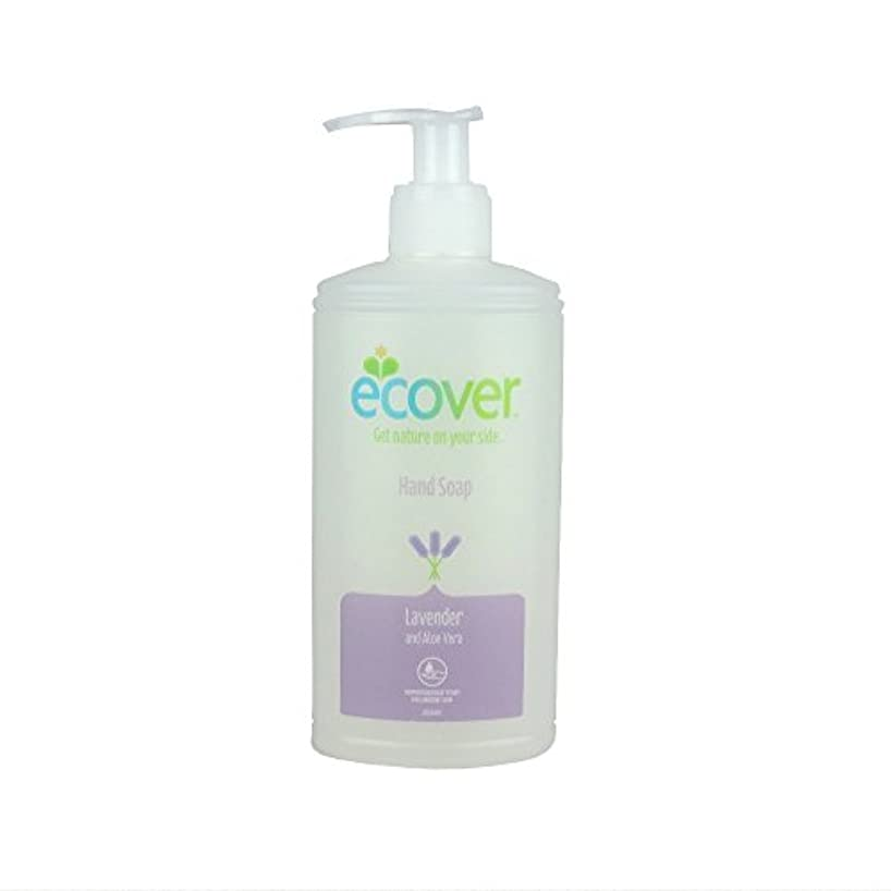 直立価格爆発するEcover Liquid Hand Soap Lavender & Aloe Vera (250ml) 液体ハンドソープラベンダーとアロエベラ( 250ミリリットル)をエコベール
