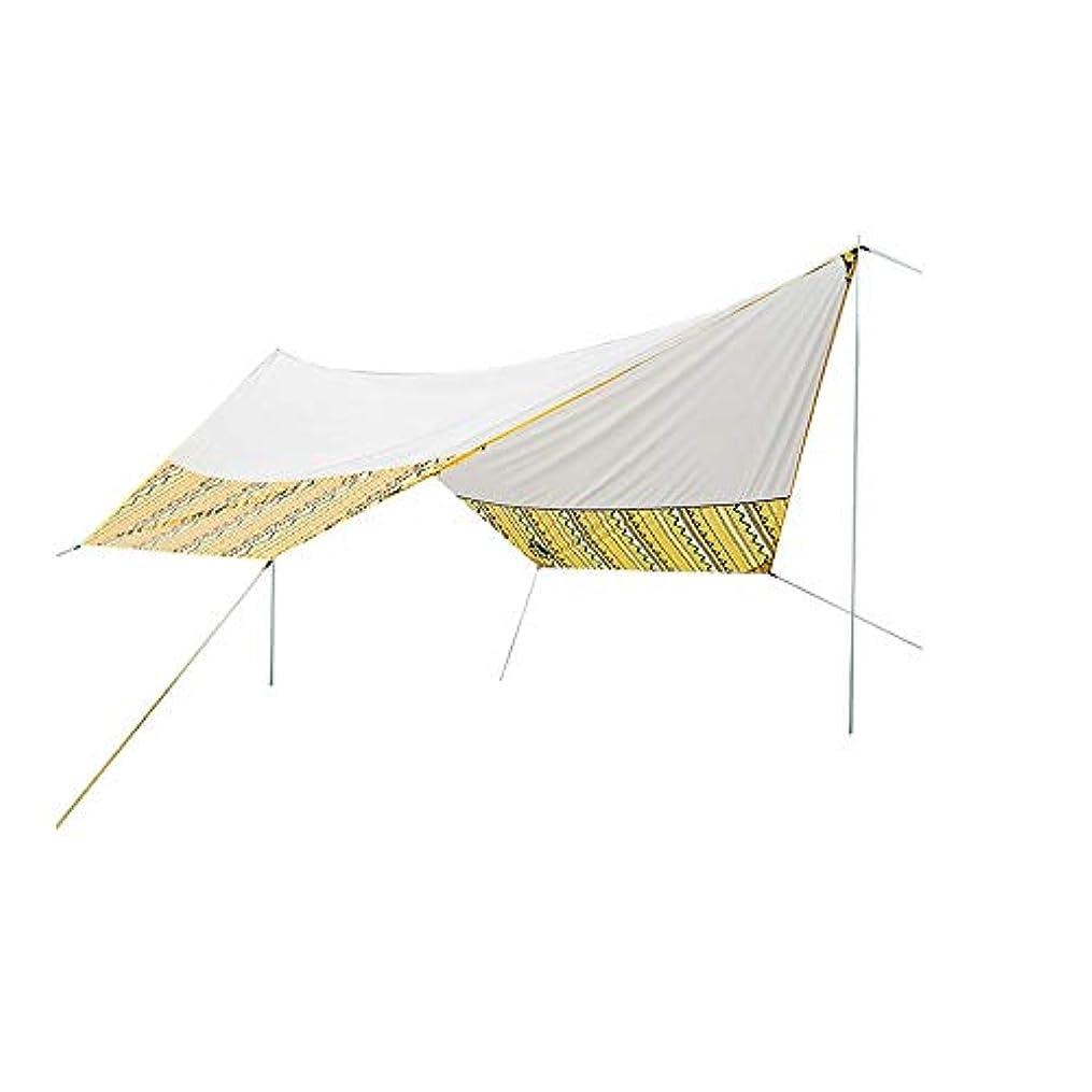 荒らす悪意のある検証Okiiting 防水テント屋外のキャンプテント日焼け止めUV保護ポータブルテント15.3 x 13.1フィート耐久性のあるデザイン うまく設計された (色 : カーキ, サイズ : Free size)