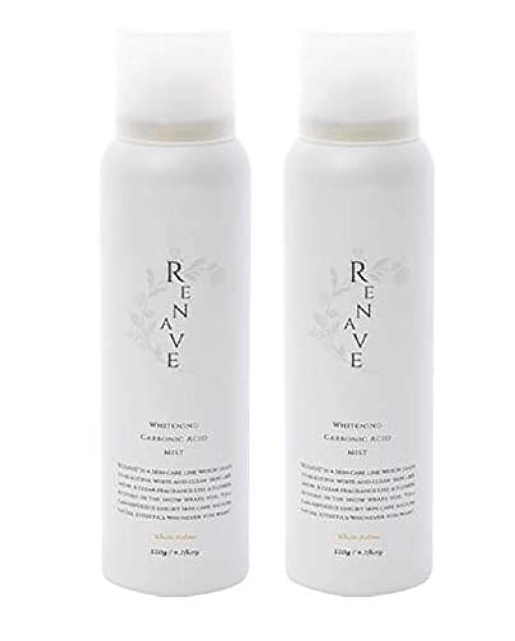 元に戻す安らぎ地味なRENAVE(リネーヴェ) 高濃度炭酸ミスト 薬用美白化粧水 120ml 2本セット