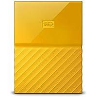 WD HDD ポータブル ハードディスク 2TB USB3.0 イエロー 暗号化 パスワード保護 3年保証 My Passport WDBS4B0020BYL-WESN