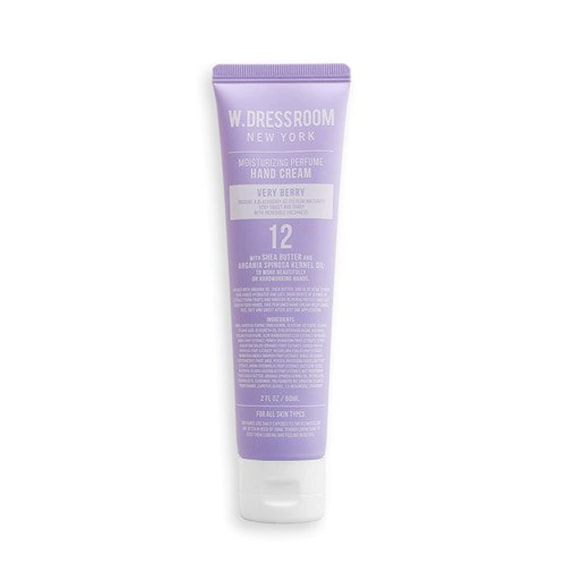 かどうか危険な法的W.DRESSROOM Moisturizing Perfume Hand Cream 60ml/ダブルドレスルーム モイスチャライジング パフューム ハンドクリーム 60ml (#No.12 Very Berry) [並行輸入品]