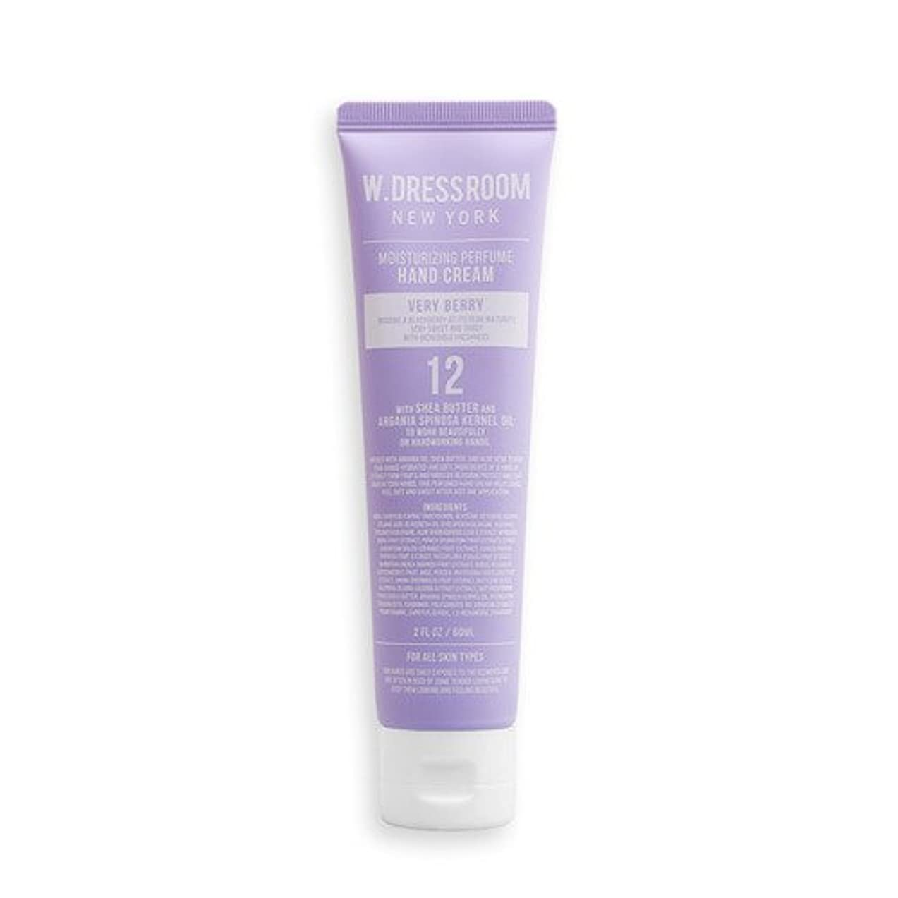 復活させる小切手海峡W.DRESSROOM Moisturizing Perfume Hand Cream 60ml/ダブルドレスルーム モイスチャライジング パフューム ハンドクリーム 60ml (#No.12 Very Berry) [並行輸入品]
