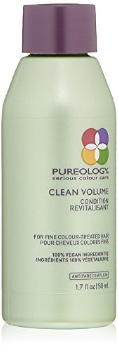 最近カバー毎回Pureology クリーンボリュームコンディショナー、1.7液量オンス 1.7 fl。オンス 0
