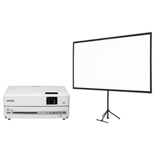 EPSON プロジェクター dreamio EH-DM30S (DVD・スピーカー一体型/EH-DM30+80型スクリーンセット)