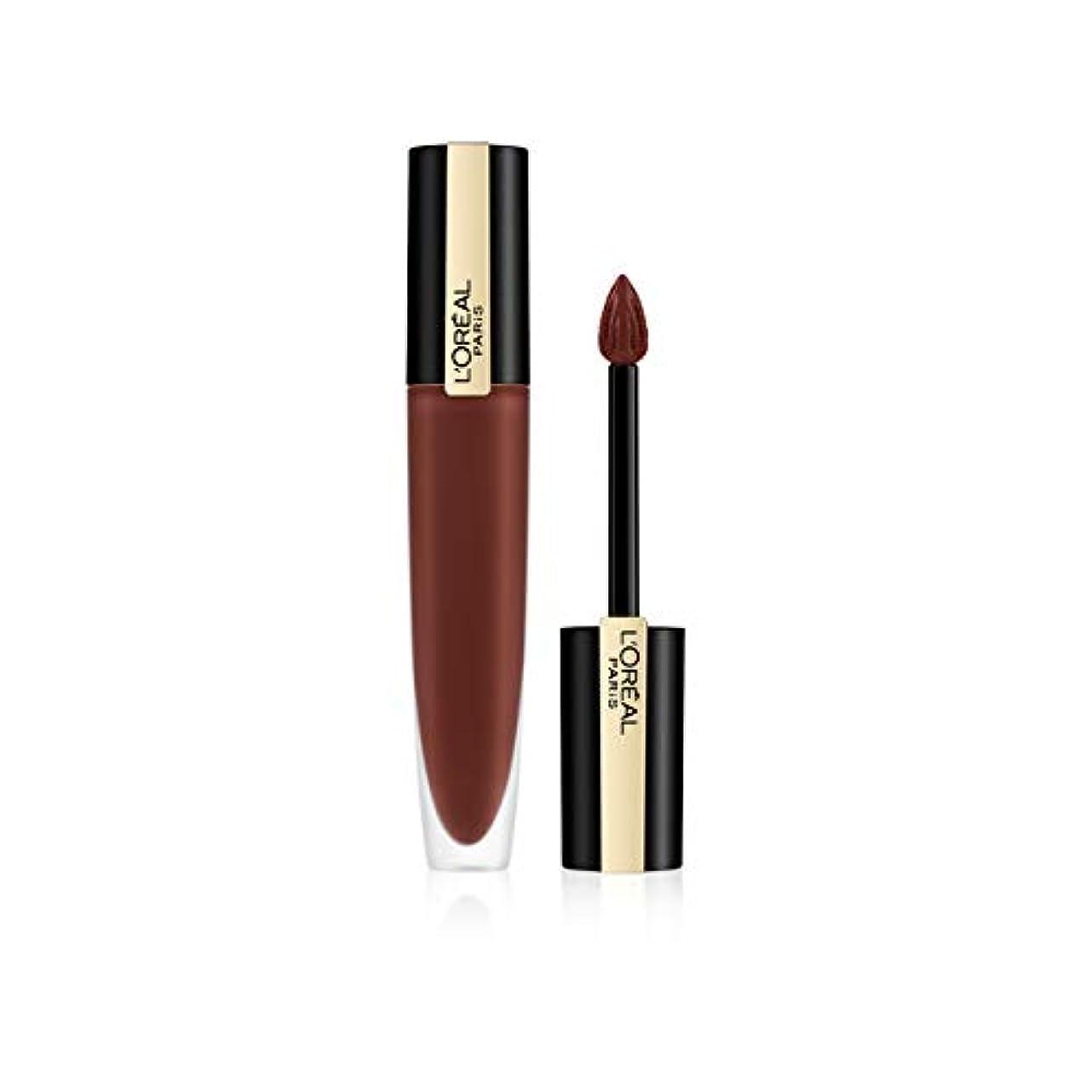間寛容黒くするL'Oreal Paris Rouge Signature Matte Liquid Lipstick,126 I Play, 7g