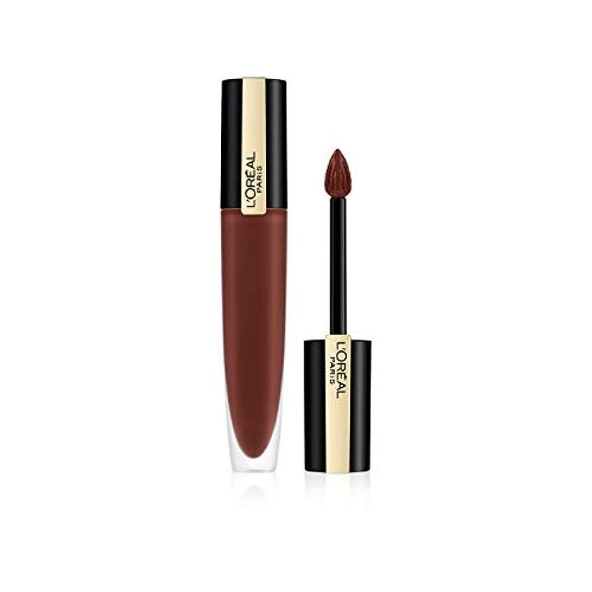 トラブル多様体獣L'Oreal Paris Rouge Signature Matte Liquid Lipstick,126 I Play, 7g