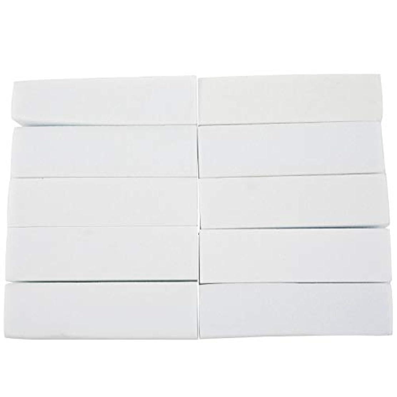 メッセージキャンディー消化器Nrpfell 10x白いのアクリルネイルアートのバフ研磨のツール、マニキュアツール