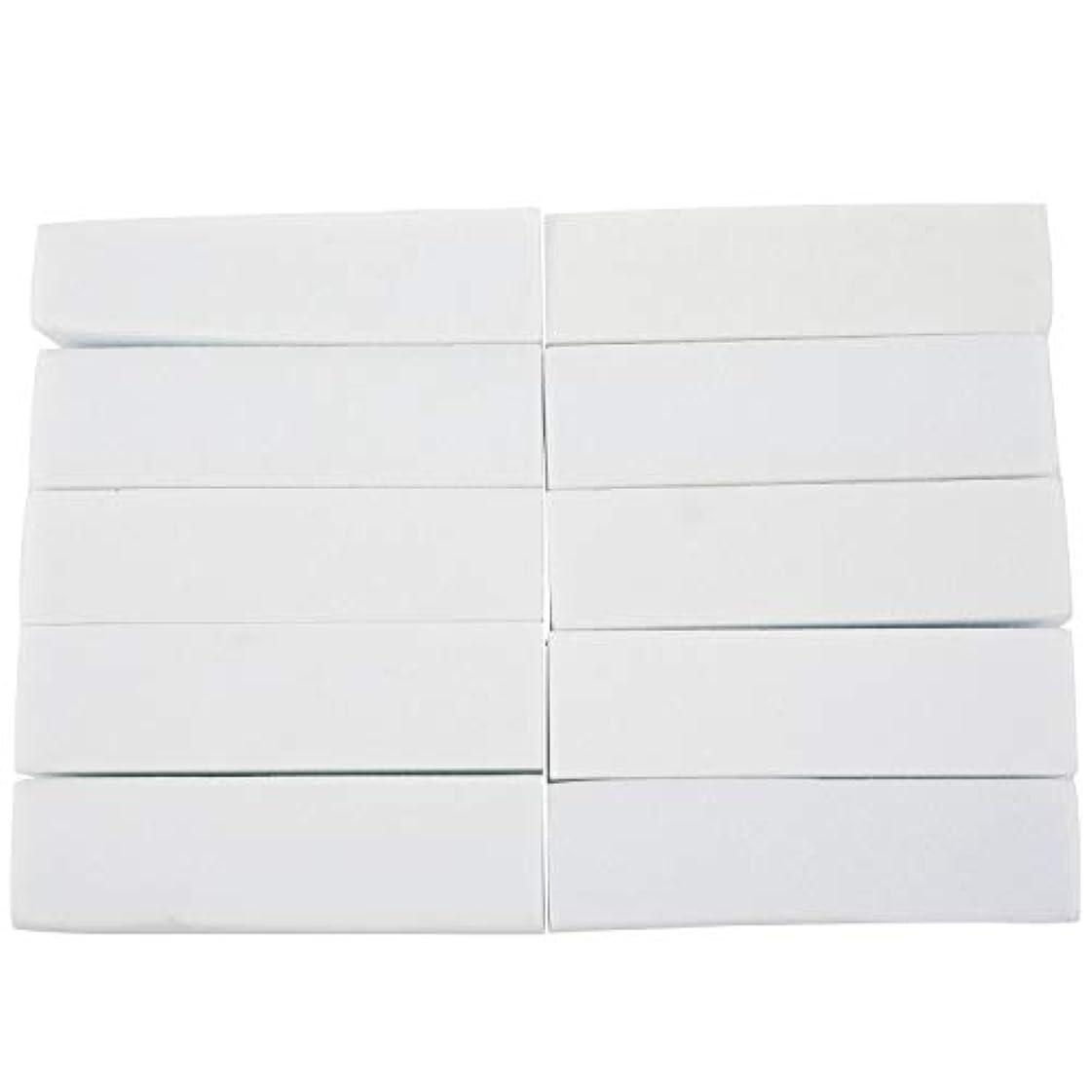メーカー理容室必要条件upperx 10x白いのアクリルネイルアートのバフ研磨のツール、マニキュアツール