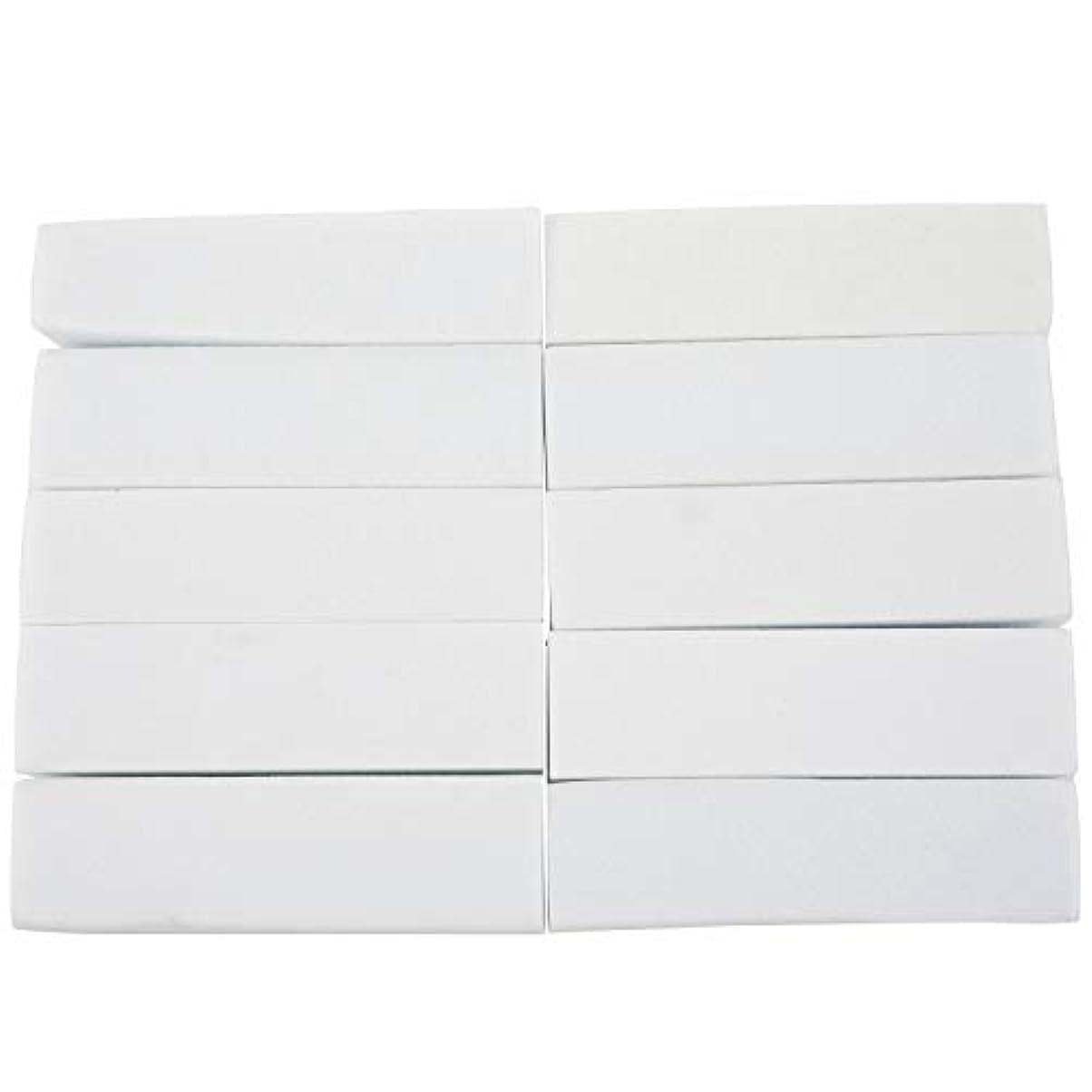変換上へ封筒AFBEST 10x白いのアクリルネイルアートのバフ研磨のツール、マニキュアツール