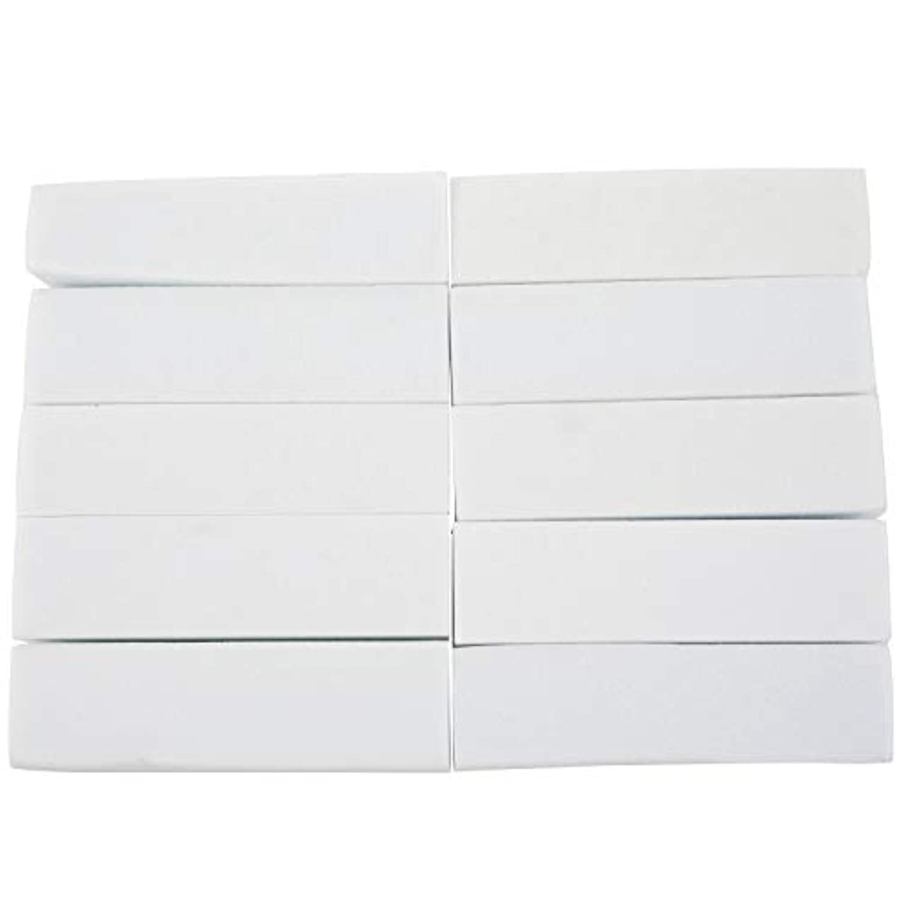 CUHAWUDBA 10x白いのアクリルネイルアートのバフ研磨のツール、マニキュアツール
