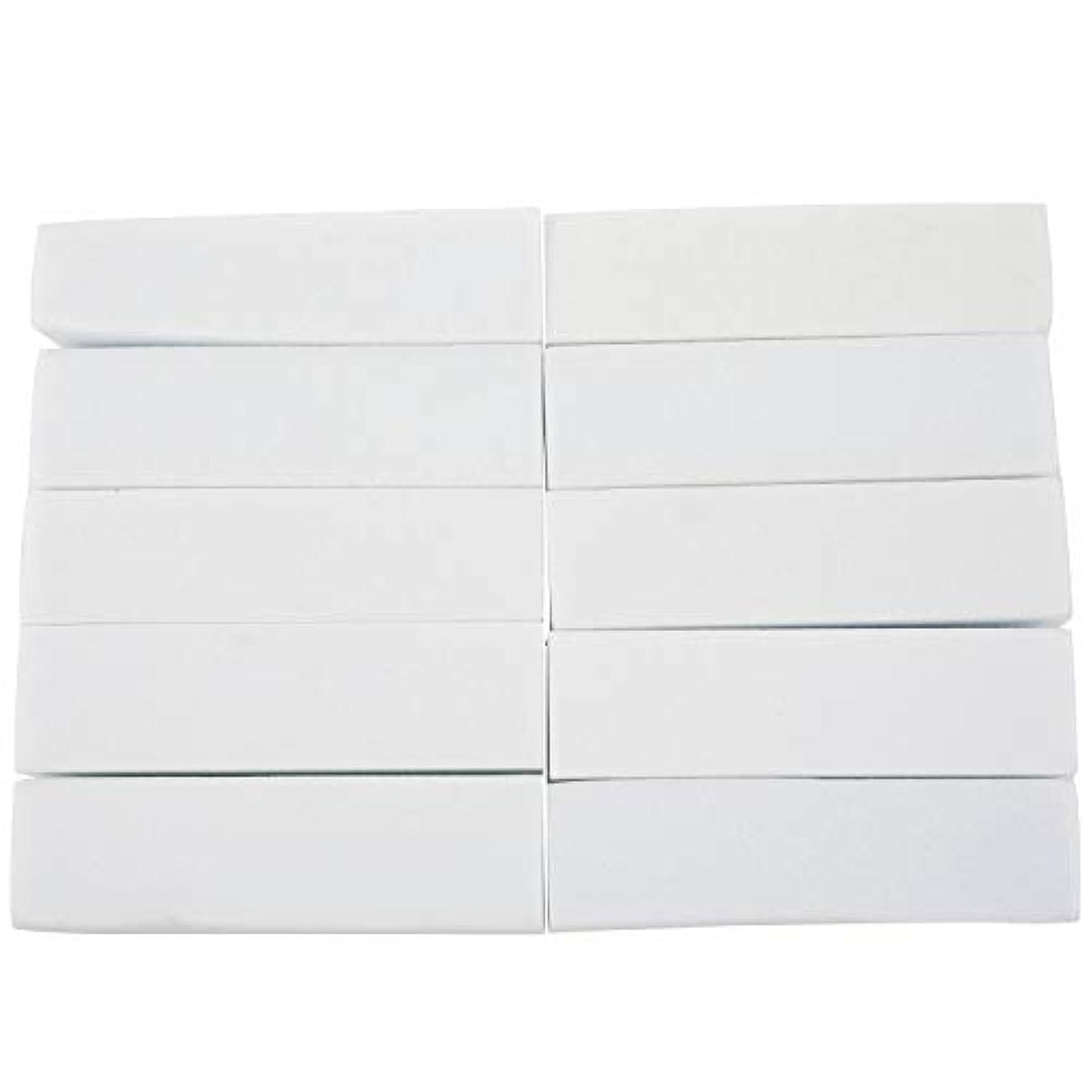 予想外選択する最大限Naliovker 10x白いのアクリルネイルアートのバフ研磨のツール、マニキュアツール