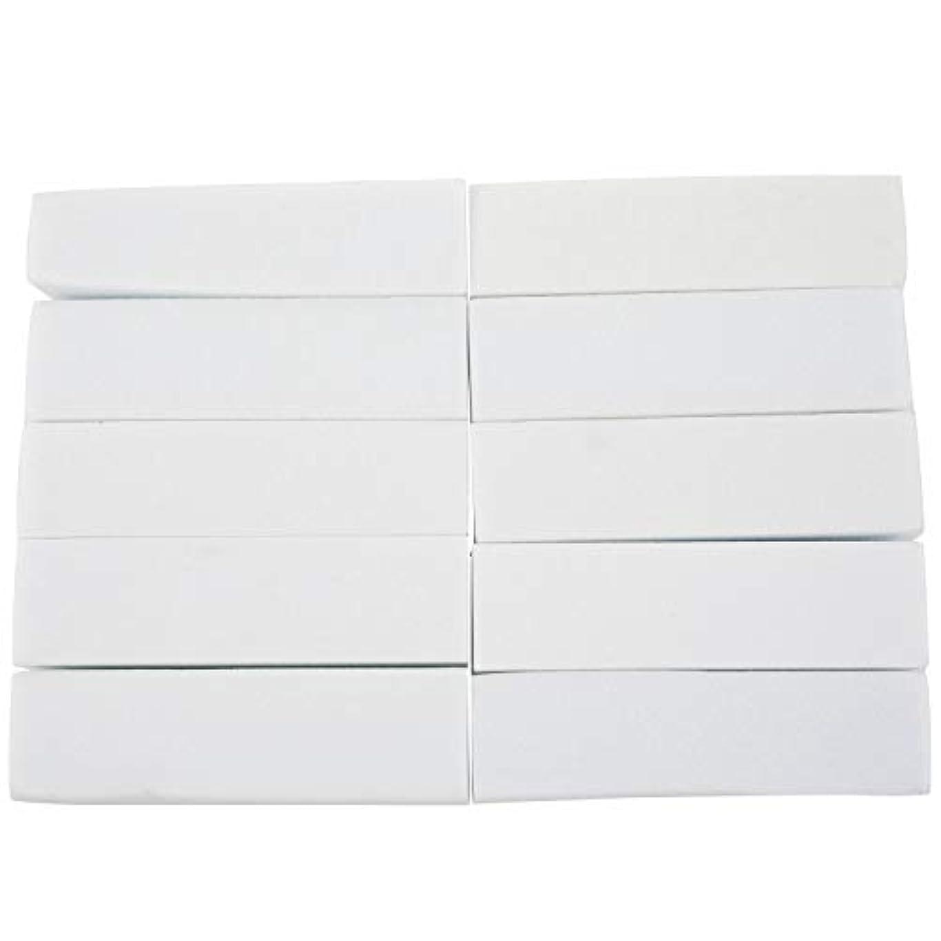 怠感合唱団素子TYJP 10x白いのアクリルネイルアートのバフ研磨のツール、マニキュアツール