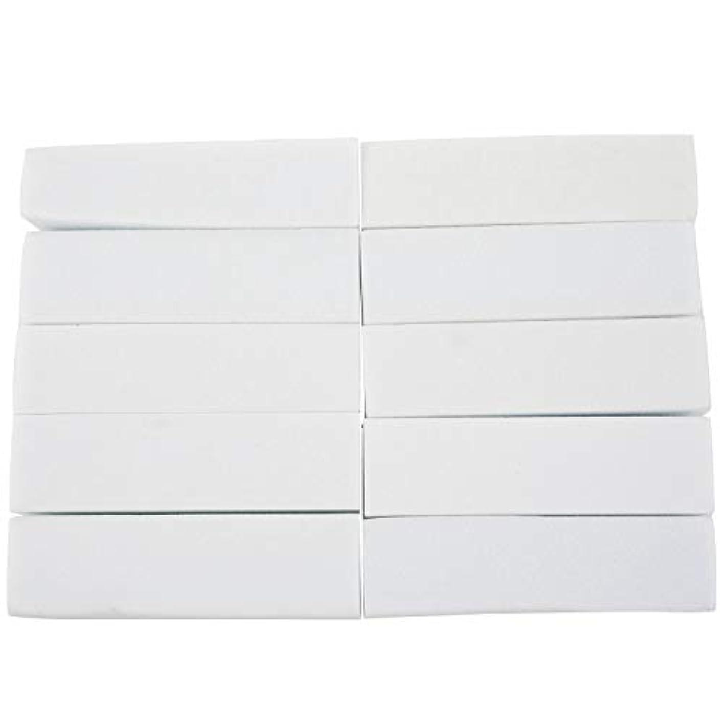 今パターン乱気流Nrpfell 10x白いのアクリルネイルアートのバフ研磨のツール、マニキュアツール