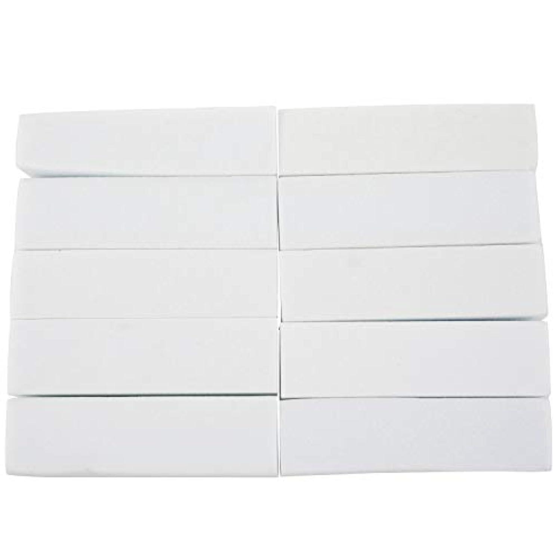 お手入れに慣れミシン目TYJP 10x白いのアクリルネイルアートのバフ研磨のツール、マニキュアツール