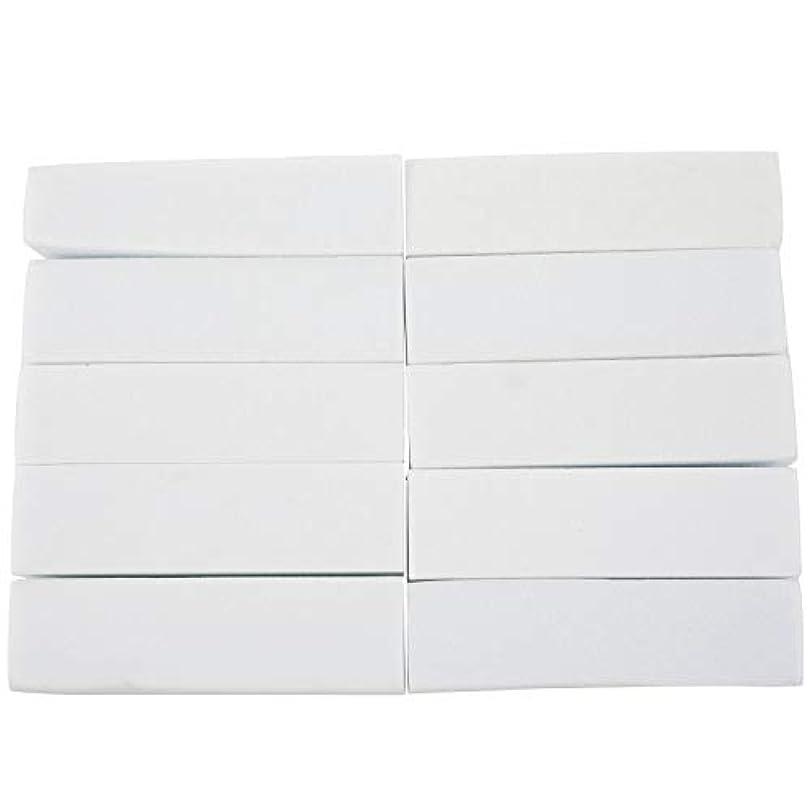トイレ理容師恐れるCUHAWUDBA 10x白いのアクリルネイルアートのバフ研磨のツール、マニキュアツール