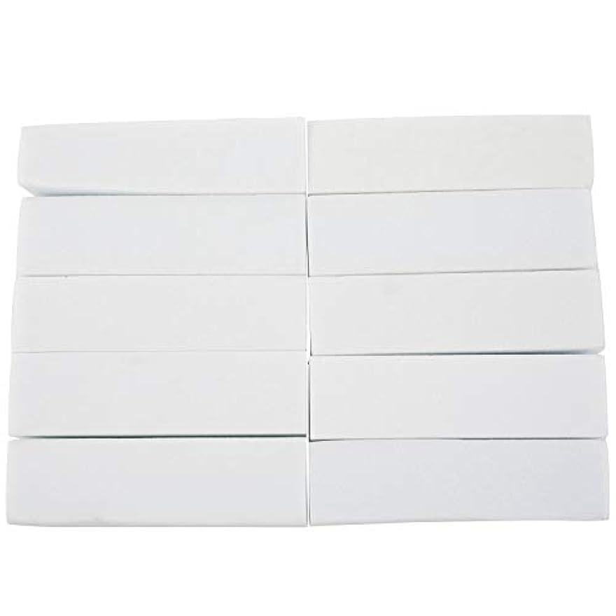 聖歌物質セレナNaliovker 10x白いのアクリルネイルアートのバフ研磨のツール、マニキュアツール