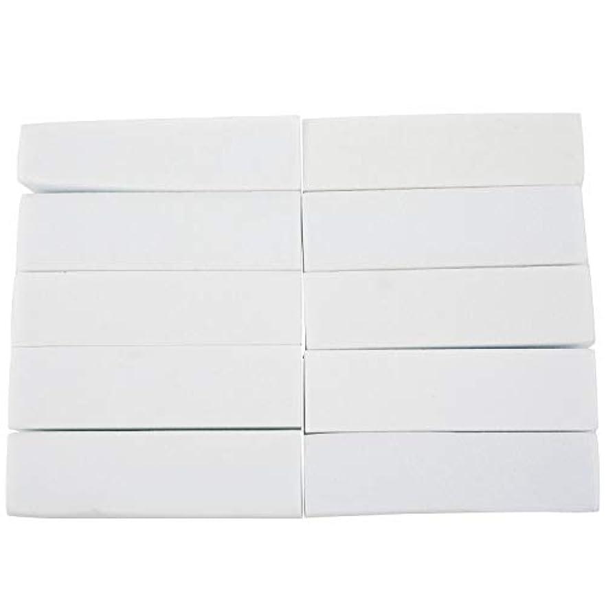 企業巡礼者動員するupperx 10x白いのアクリルネイルアートのバフ研磨のツール、マニキュアツール