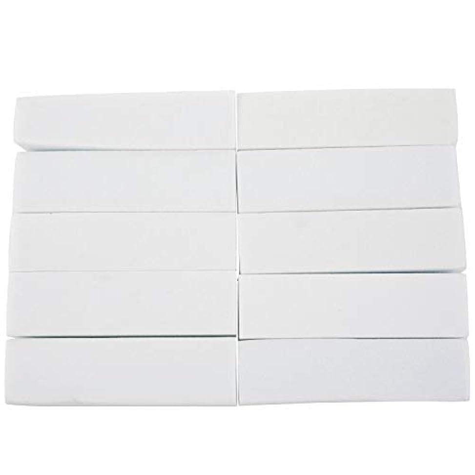セラーコンパクト最初upperx 10x白いのアクリルネイルアートのバフ研磨のツール、マニキュアツール