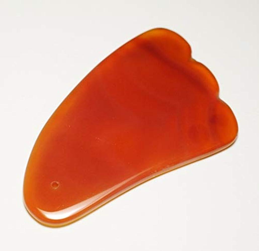 グリースプラスチックチームカーネリアン かっさ 羽型 Shylph 美と健康に マッサージ 赤瑪瑙カッサ