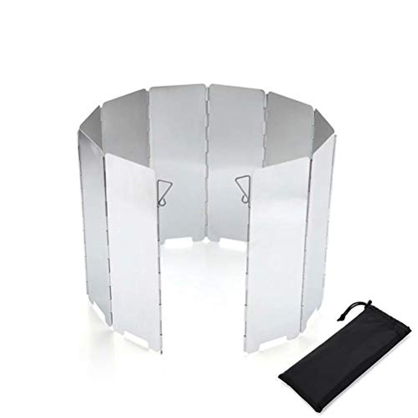 卑しい紀元前ママアルミ製風除板 ウインドスクリーン 折り畳み式 アウトドア 防風 軽量 収納袋付き 10枚
