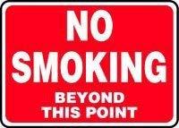 Accuform MSMK432VS Safety Sign No Smoking Beyond This Point 7 x 10 Adhesive Vinyl [並行輸入品]