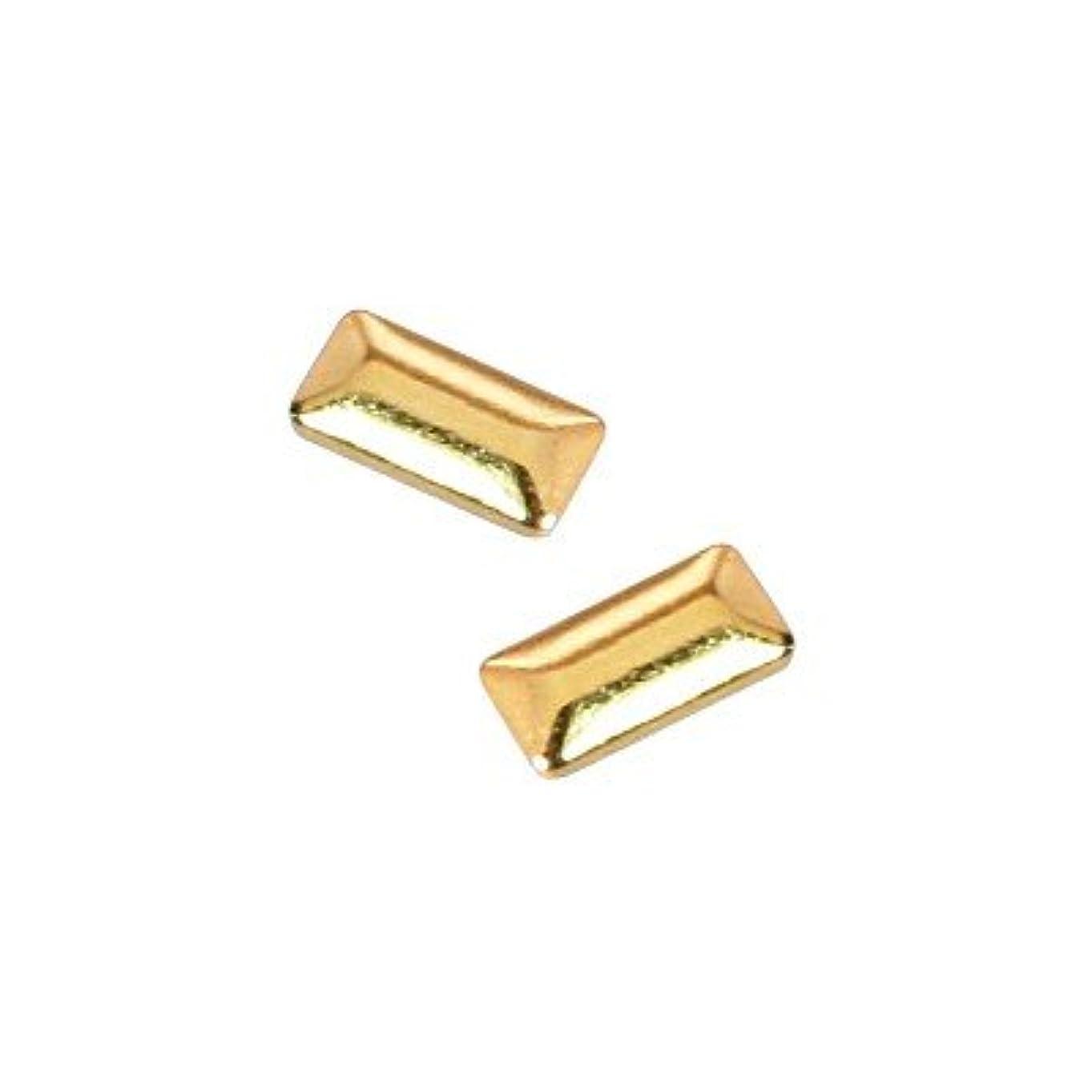 ペルメル割り当てます間ピアドラ スタッズ メタル長方形 1×3mm 50P ゴールド