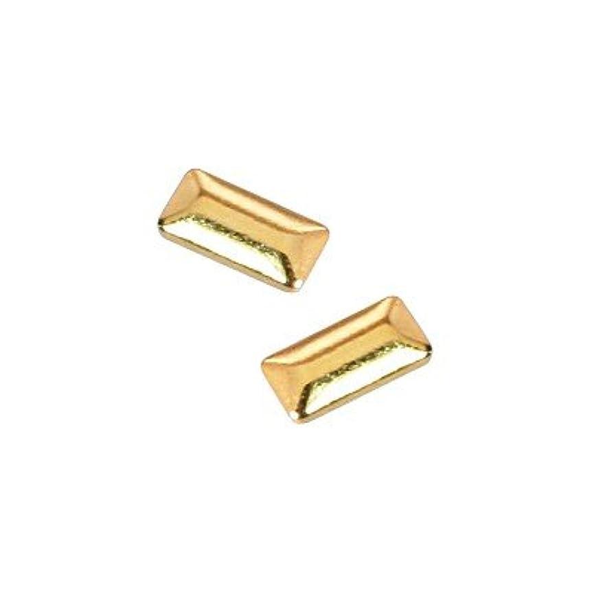 奪う保持するつらいピアドラ スタッズ メタル長方形 1×3mm 50P ゴールド