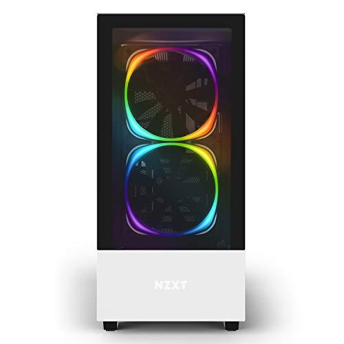 『NZXT H510 Elite 前面+側面ガラスパネル RGB LED発光&ファン制御機能搭載 [ White & Black ] CA-H510E-W1』の9枚目の画像