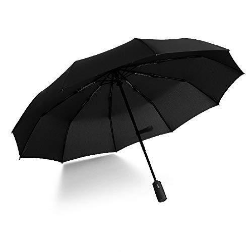 HappyGO 傘 メンズ 折りたたみ傘 折り畳み傘 118cm 広い傘面 10本グラスファイバー傘骨 耐強風 ワンタッチ 自動開閉 210T高強度傘面 晴雨兼用 ビジネス用 収納ポーチ付き