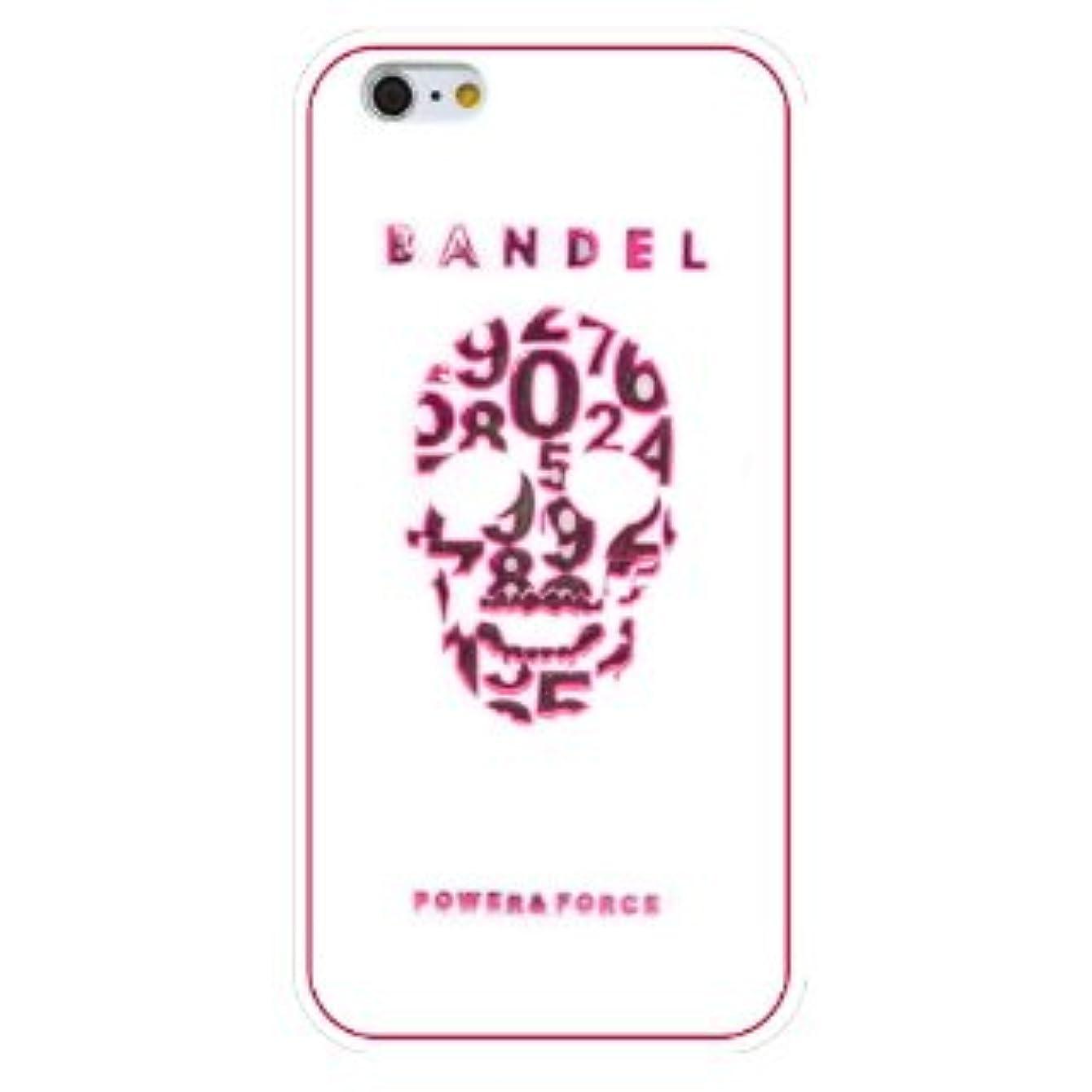 台無しにプーノ円周バンデル(BANDEL) スカル iPhone 7専用 シリコンケース [ホワイト×ピンク]
