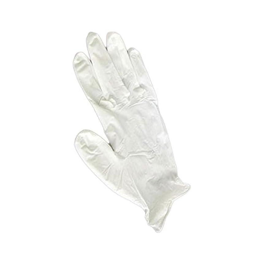 結晶スクラップいっぱい三高サプライ ニトリルグローブ(ゴム手袋) パウダーフリー BOXタイプ ダーマホワイト 100枚入り GN01 S