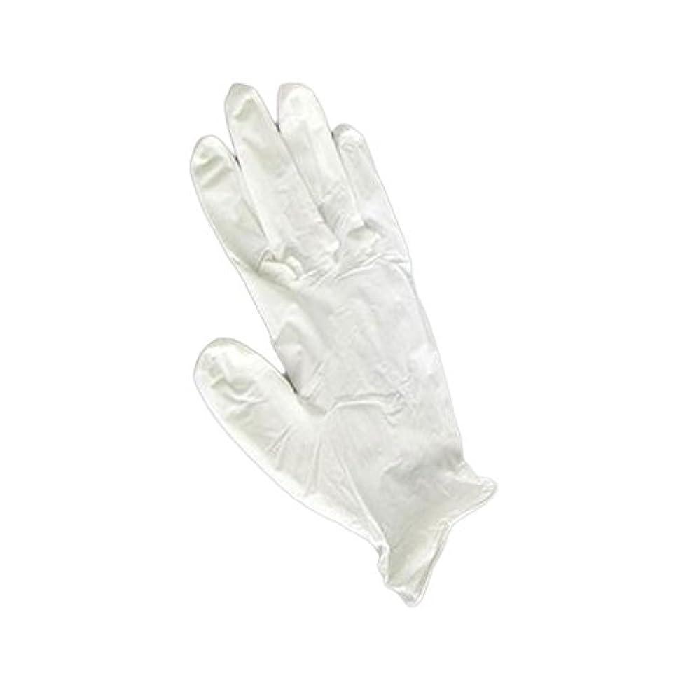 巻き戻す料理をするに向かって三高サプライ ニトリルグローブ(ゴム手袋) パウダーフリー BOXタイプ ダーマホワイト 100枚入り GN01 S