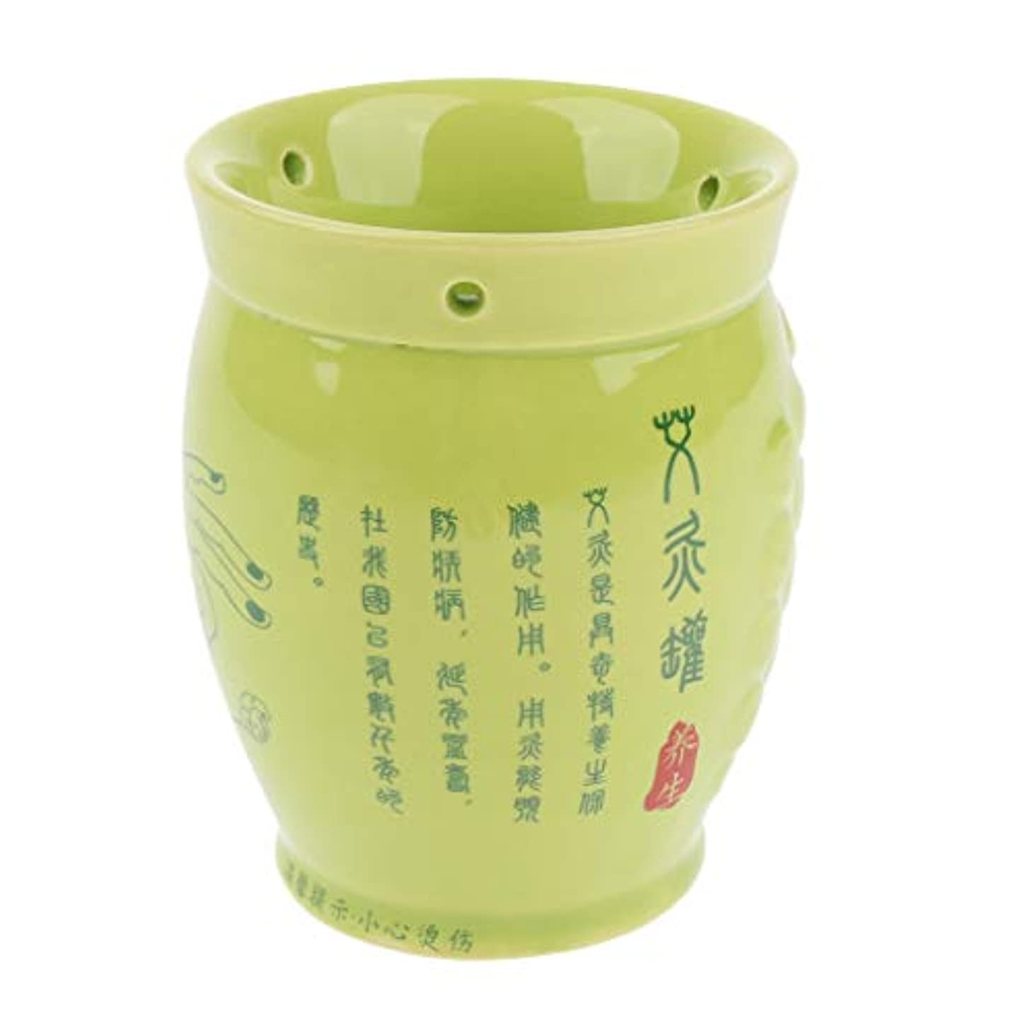 アスペクト教義好意中国式カッピングカップ 缶 ポット マッサージ お灸 セラミック製