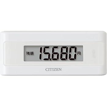 シチズン(CITIZEN) 電子マネービューアー付き歩数計 ホワイト TWTC501-WH