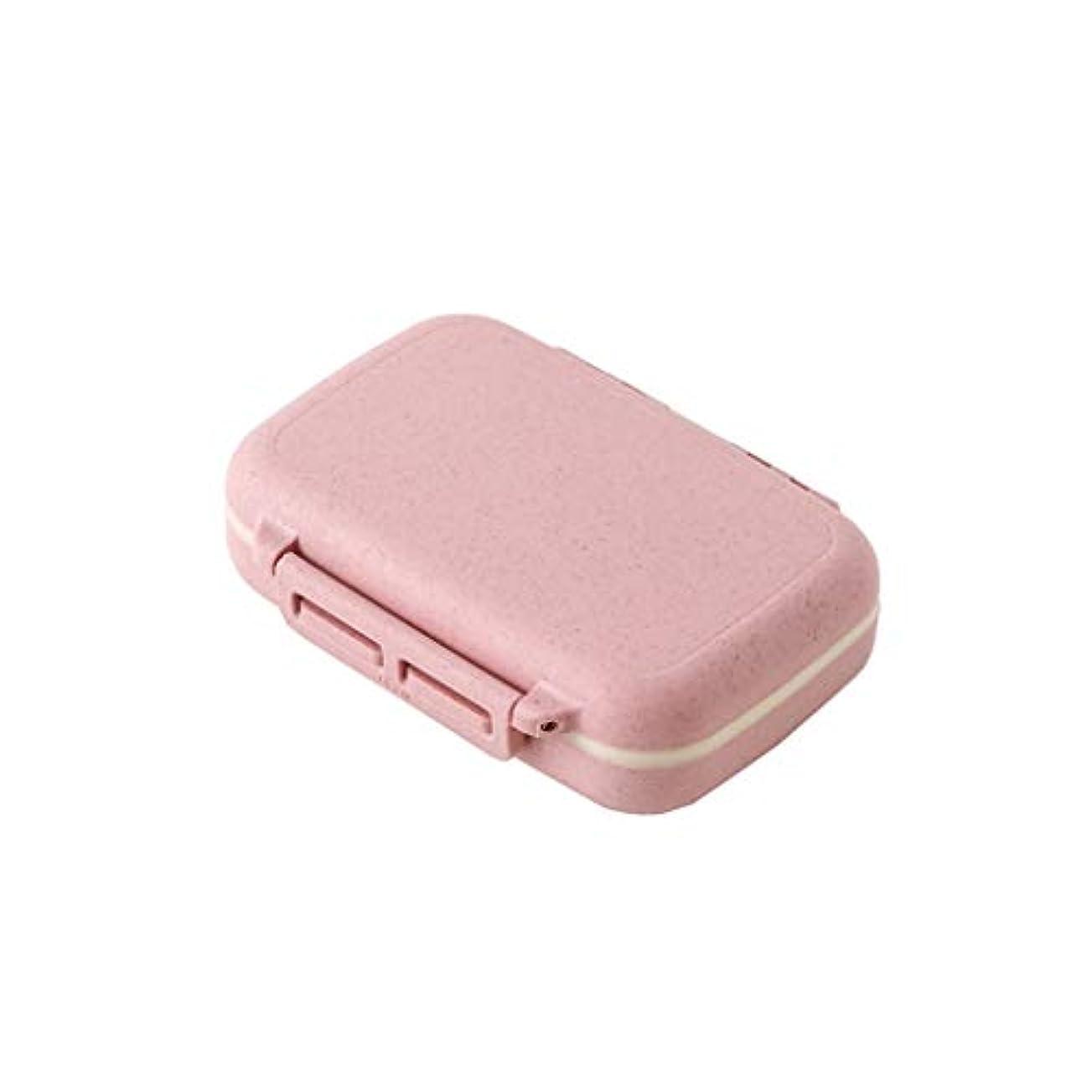 解決チャーター死ぬ家庭用薬箱調剤箱薬錠剤防湿シール小型ピルボックス大容量一週間小ピルボックス 薬箱 (Color : Pink, Size : 10.5cm×7cm×3cm)