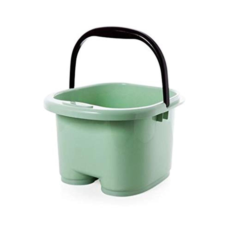 スパ足浴槽家庭用プラスチック大浴槽肥厚マッサージ泡フットバケツ 413 (色 : A)