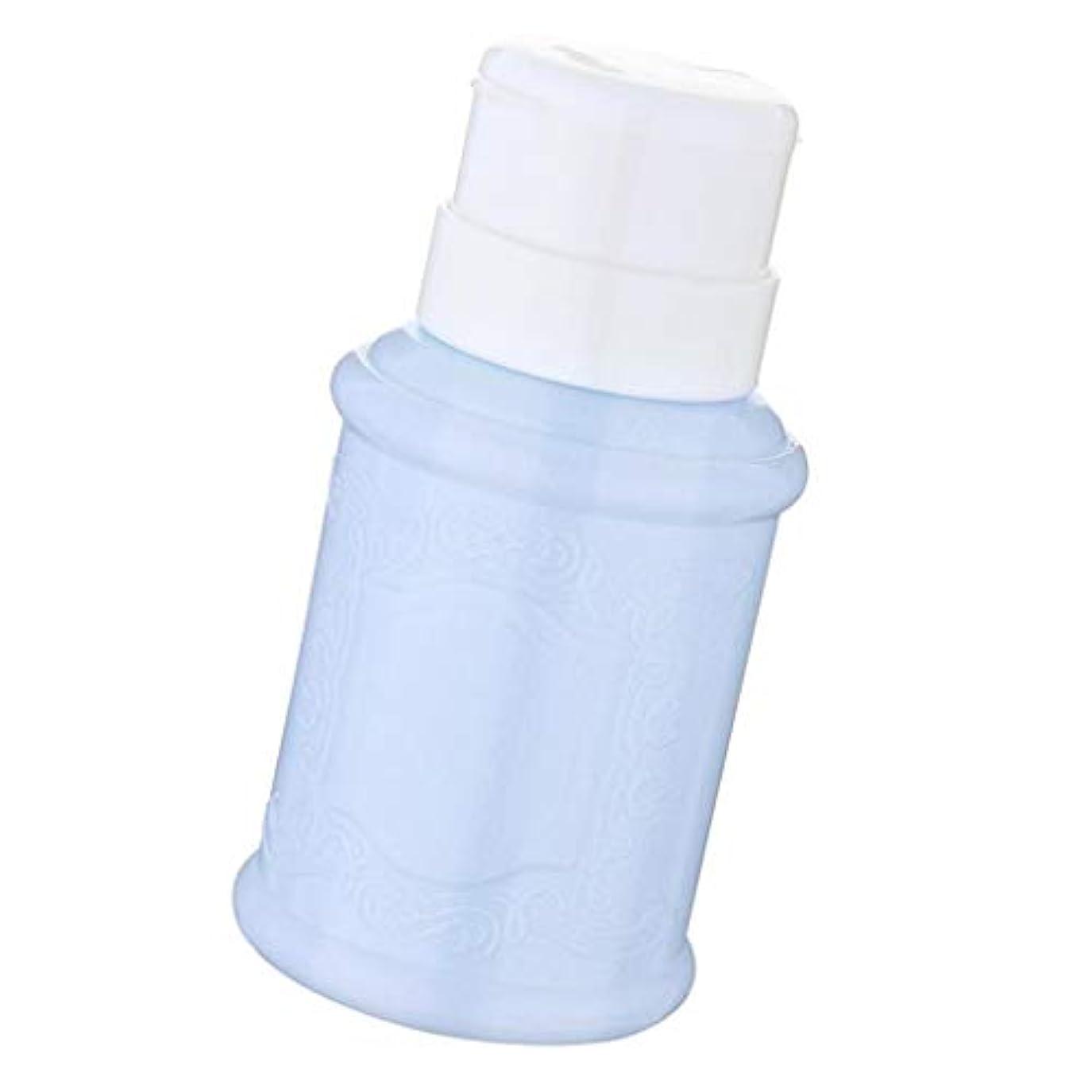 時計ソブリケットフクロウポンプディスペンサー ネイル リットル空ポンプ ネイルクリーナーボトル 全3色 - 青