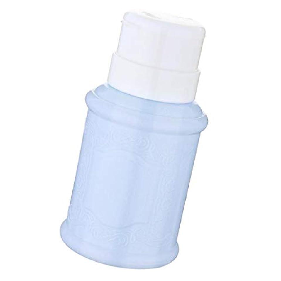 印刷するインポート異形ポンプディスペンサー ネイル リットル空ポンプ ネイルクリーナーボトル 全3色 - 青
